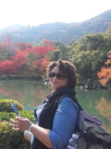 In the meditation garden at Tenryu-ji Zen Temple. Kyoto, Japan-Autumn 2014